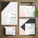 Blush Monochrome Wedding Invitations