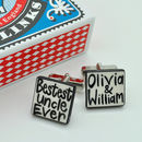 Personalised 'Bestest Uncle' Cufflinks