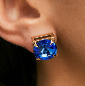 Sapphire Crystal Earrings - earrings