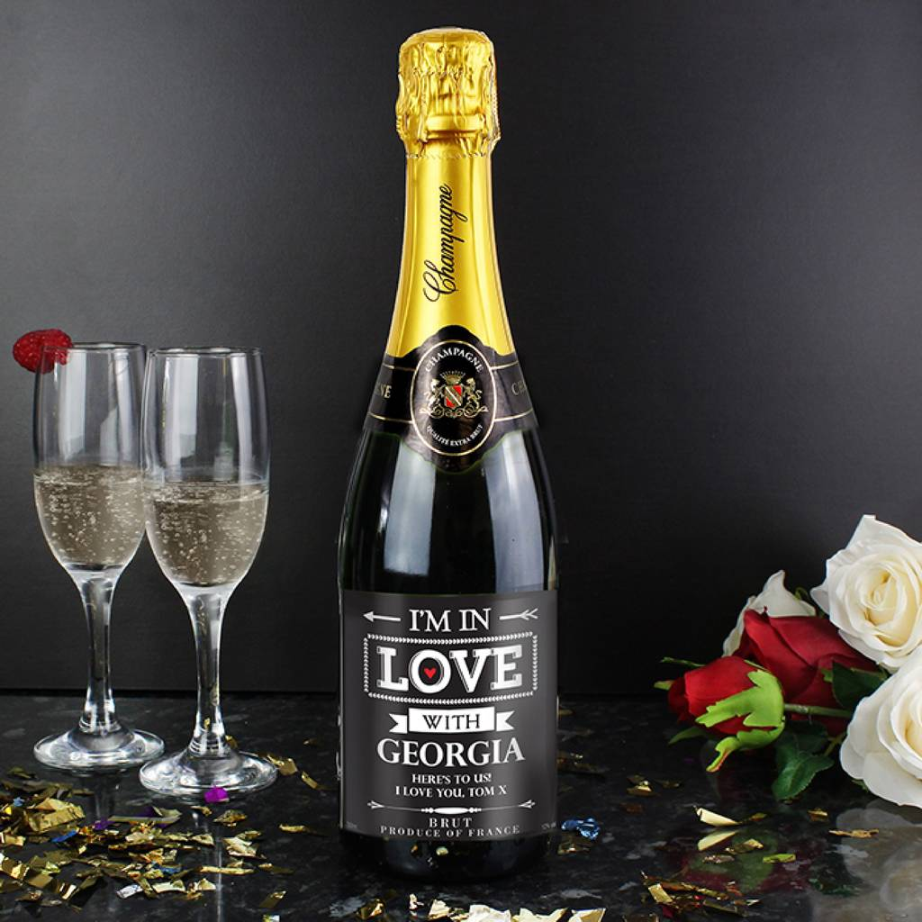 Personalised Champagne Valentine Gift