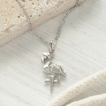 Sterling Silver Flamingo Necklace