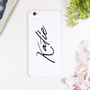 Personalised Typography iPhone Case - phone covers & cases