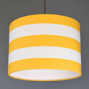 Yellow And White Deckchair Stripe Lampshade