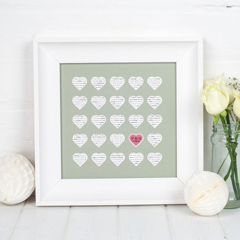 Personalised Song Lyric Gift