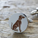 Vizsla Dog Cufflinks