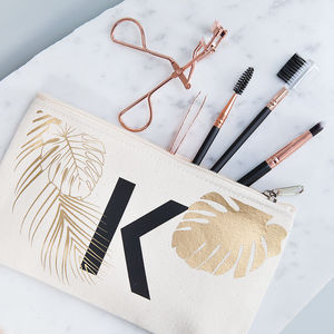Personalised Tropical Makeup Bag - gifts for friends