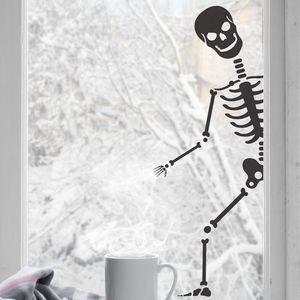 Peeping Skeleton Wall Sticker - party decorations
