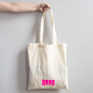 Bunting Style Cotton Tote