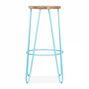 Industrial Breakfast Bar Stool, Hairpin Legs - furniture