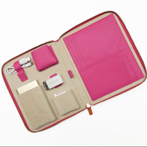 Luxury Leather Travel Tech Case For Her