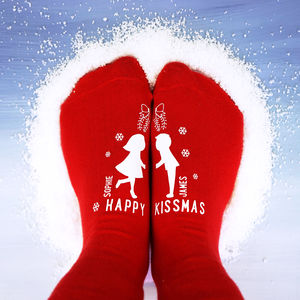 Personalised Happy Kissmas Socks - gifts for him
