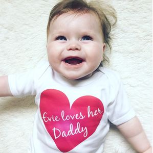 I Love My Daddy Personalised T Shirt
