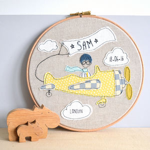 Little Boy Or Girl Aviator Personalised Baby Picture - dates & special occasions