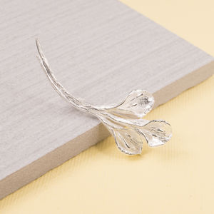Silver Calla Lily Brooch - pins & brooches