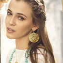 Gold Bubble Cutwork Statement Earrings