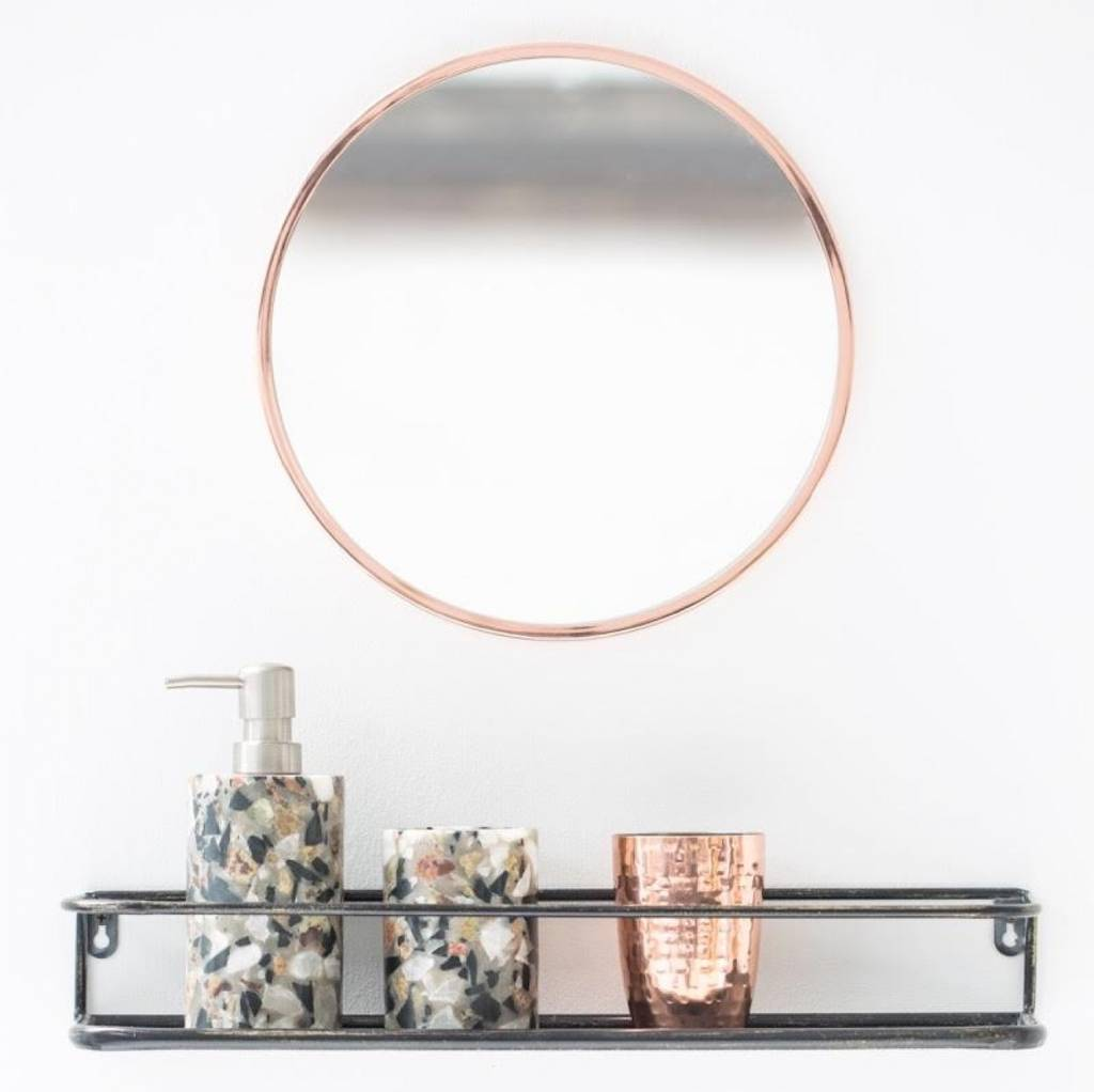 Round Copper Edged Mirror By The Forest Amp Co