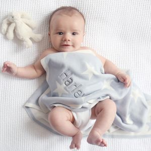 Personalised Blue Star Blanket - baby care