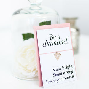 Be A Diamond Wish Bracelet - bracelets & bangles