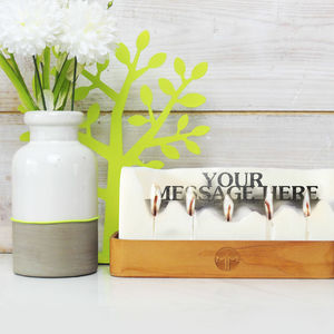 Personalised Hidden Message Candle