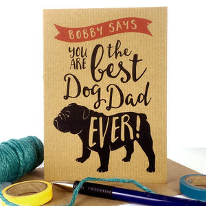 Best Dog Dad Ever Card - cards & wrap
