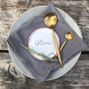 Personalised Wedding Place Setting Plates Full Set - new in wedding styling