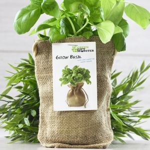 Basil Jute Bag Grow Set - seeds & bulbs