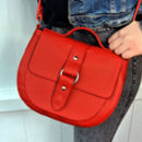 Handcrafted Red Leather Saddle Bag