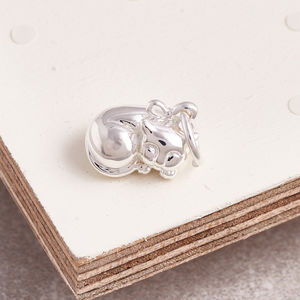 Cat Solid Silver Charm