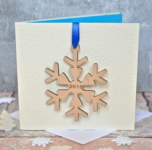 Snowflake Decoration Christmas Card