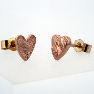 Solid Rose Gold Textured Heart