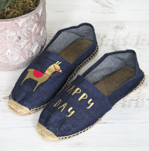 Happy Day Llama Espadrilles - women's fashion