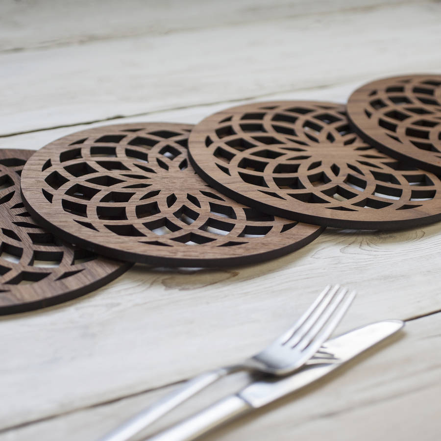 'Flower Of Life' Walnut Placemat