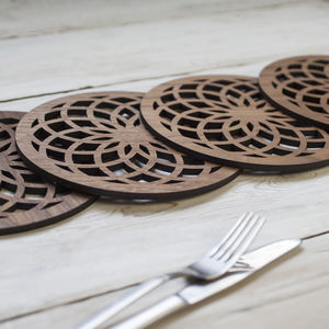 'Flower Of Life' Walnut Placemat - kitchen