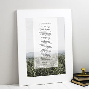Personalised Poem Gift For Grandad Or Grandpa - typography