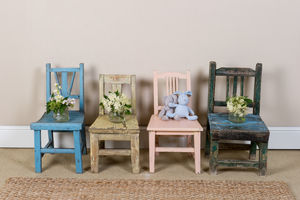 Vintage Childrens' Wooden Chairs Variety Of Colours - furniture