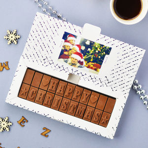 Personalised Chocolate Card In A Medium Box - stocking fillers