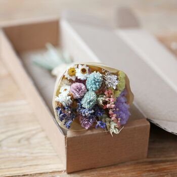 Pastel Dried Flower Posy Letterbox Gift