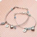 Personalised Mother And Daughter Silver Bracelets