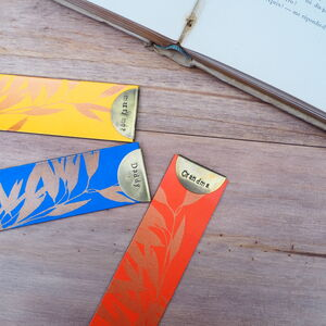 Personalised Recycled Leather Bookmark