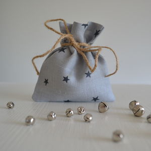 Star Pattern Mini Fabric Gift Bag - wrapping