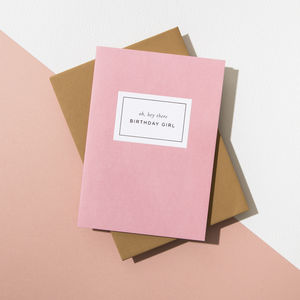 'Oh Hey There Birthday Girl' Card, Harvest Envelope