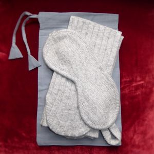 Luxury Lambswool Eye Mask And Sock Set - bedroom