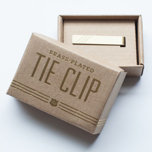 Tie Clip Engraved With 'Best Day Ever' - the morning of the big day