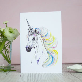 Rainbow Unicorn Greeting Card