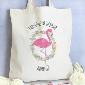 Flamingo Personalised Cotton Bag - shopper bags