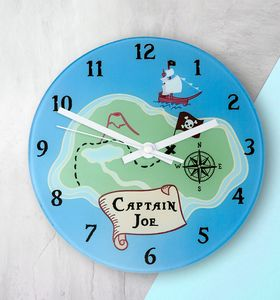 Personalised Arrrr! Pirate Wall Clock - clocks