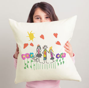 Personalised Cushion With Child's Drawing - gifts for grandparents