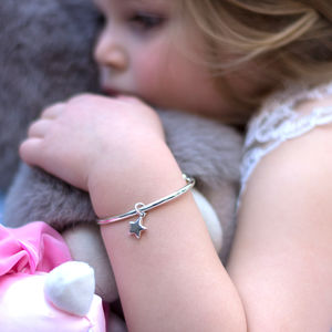 Children's Solid Silver Torque Bracelet - children's accessories