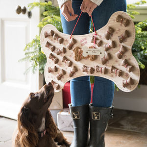 Personalised Refillable Dog Biscuit Advent Calendar - advent calendars