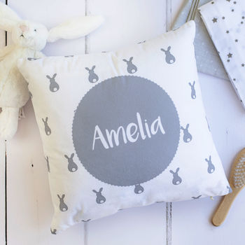 Personalised Baby Bunny Cushion
